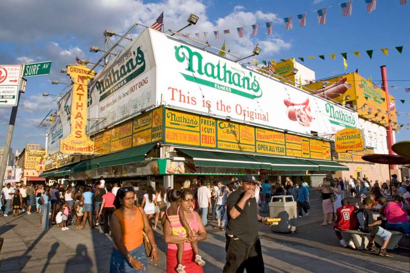 The original Nathan's location in Coney Island.