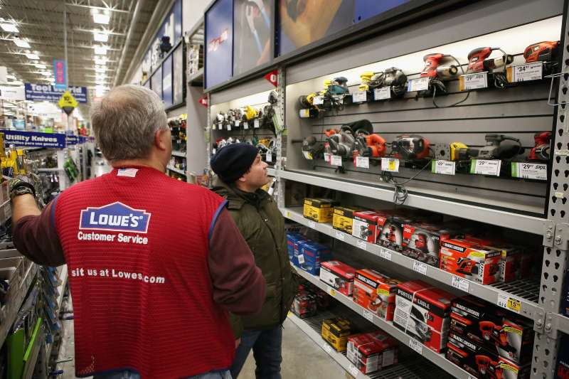 Inside a Lowe's home improvement store in Chicago, Illinois on Jan. 24, 2013.