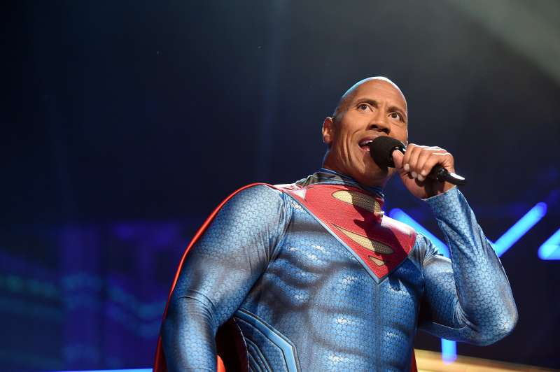 Host Dwayne Johnson speaks onstage during the 2016 MTV Movie Awards at Warner Bros. Studios on April 9, 2016 in Burbank, California.