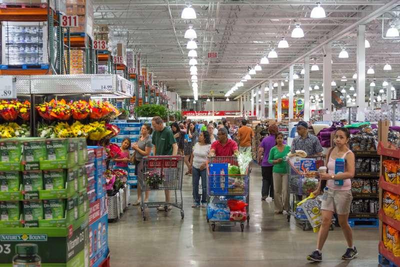 Shoppers at a Costco in Arlington, VA.