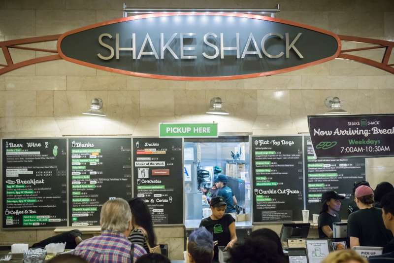 Crowds of drooling burger lovers at the Shake Shack in Grand Central Terminal in New York on Wednesday, August 12, 2015.
