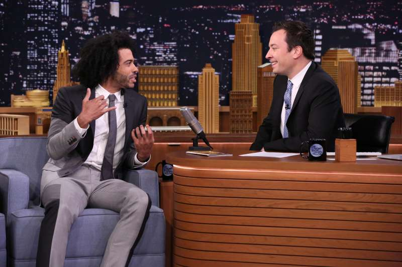 Actor Daveed Diggs during an interview with host Jimmy Fallon on May 9, 2016.