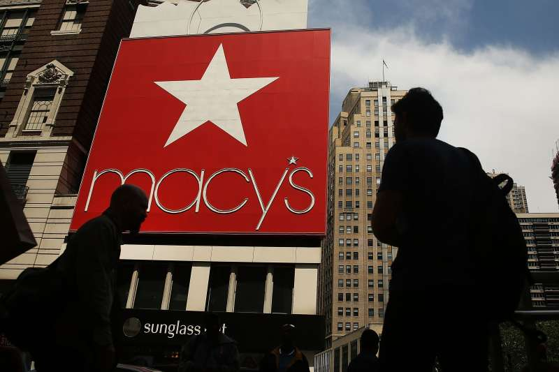 NEW YORK, NY - MAY 11:  Pedestrians walk by Macy's flagship store in Herald Square on May 11, 2016 in New York, New York.