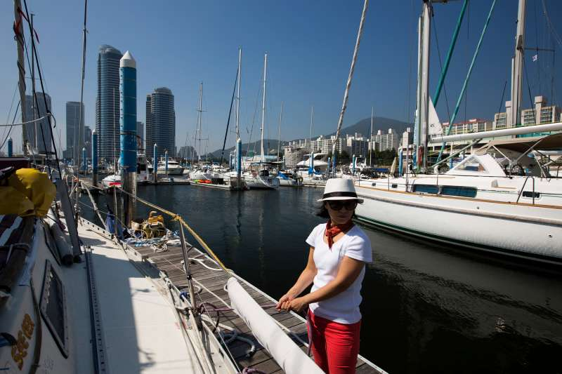 Marina in the Haeundae district in Busan, South Korea, on July 31, 2015.