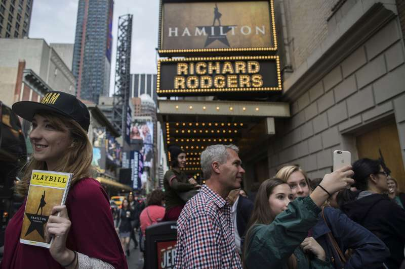 Waiting on line to see the hottest show in town, just before  Hamilton  raised its top ticket price to $849.