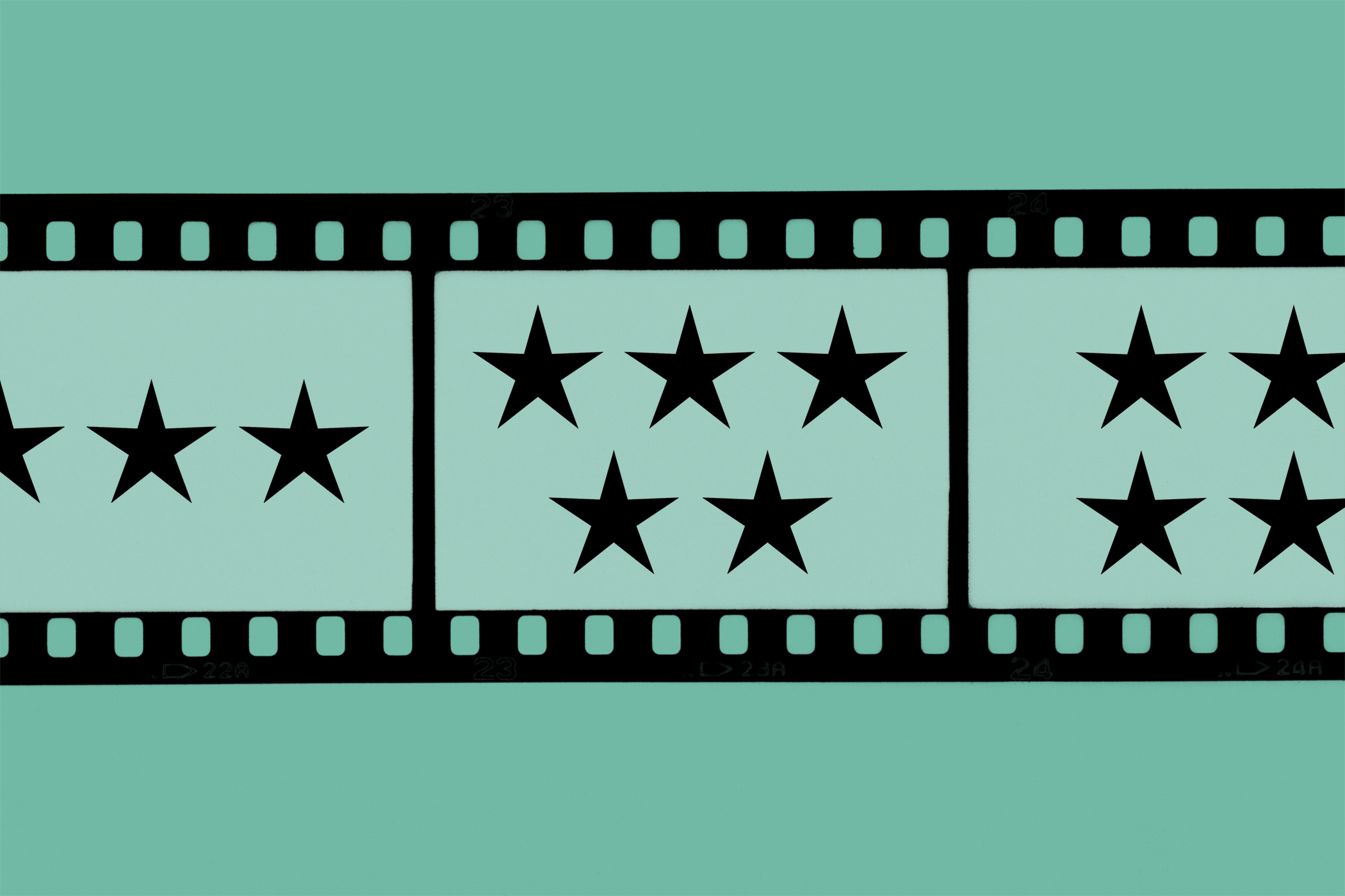 Film with stars on it
