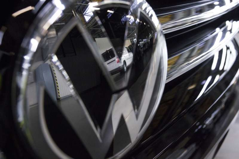 A VW badge