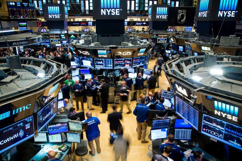 Traders work on the floor of the New York Stock Exchange (NYSE) in New York on May 27, 2016.