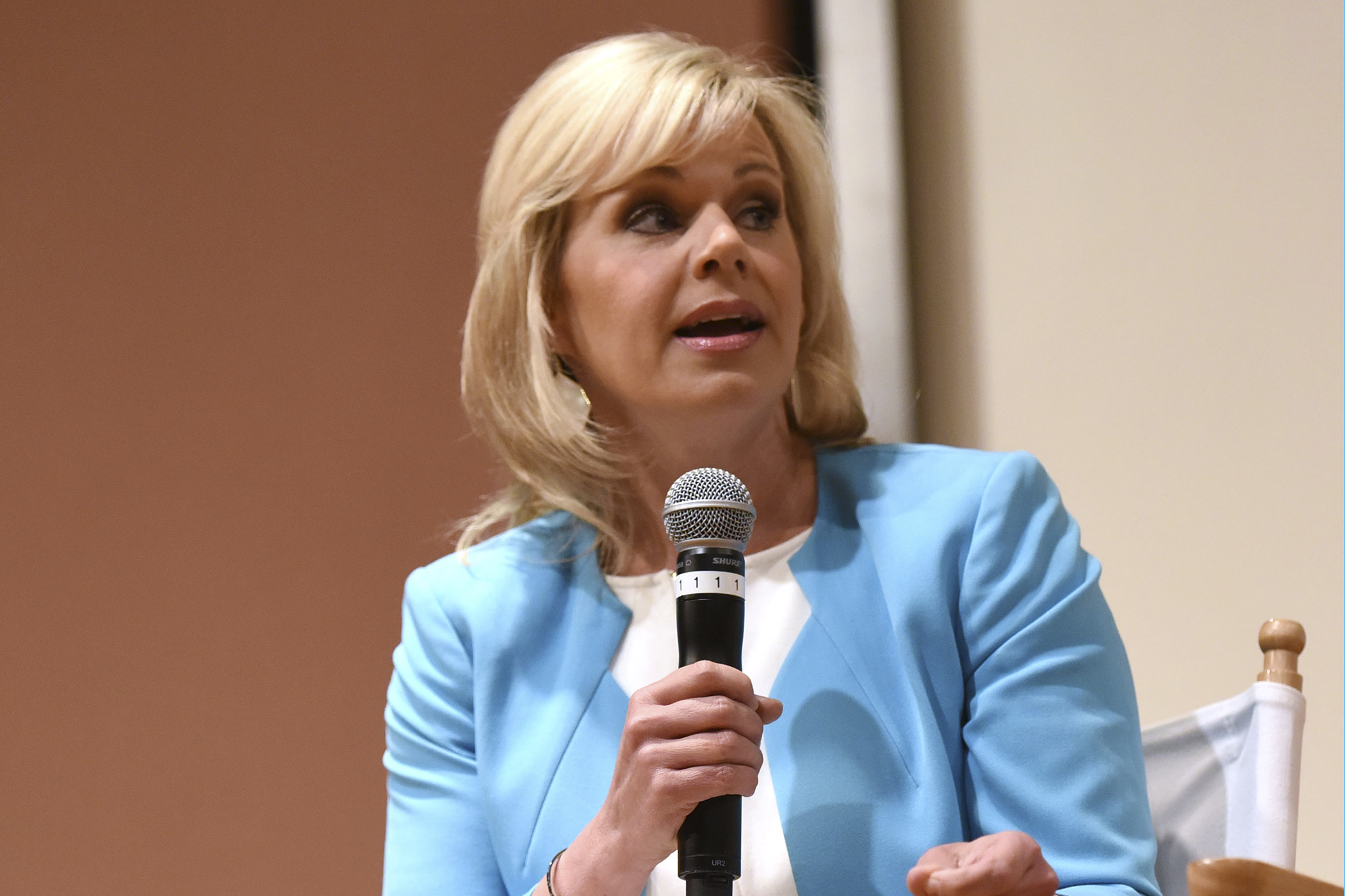 Gretchen Carlson speaks Women at the Top: Female Empowerment in Media Panel at the 2016 Greenwich International Film Festival on June 12, 2016 in Greenwich, Connecticut.