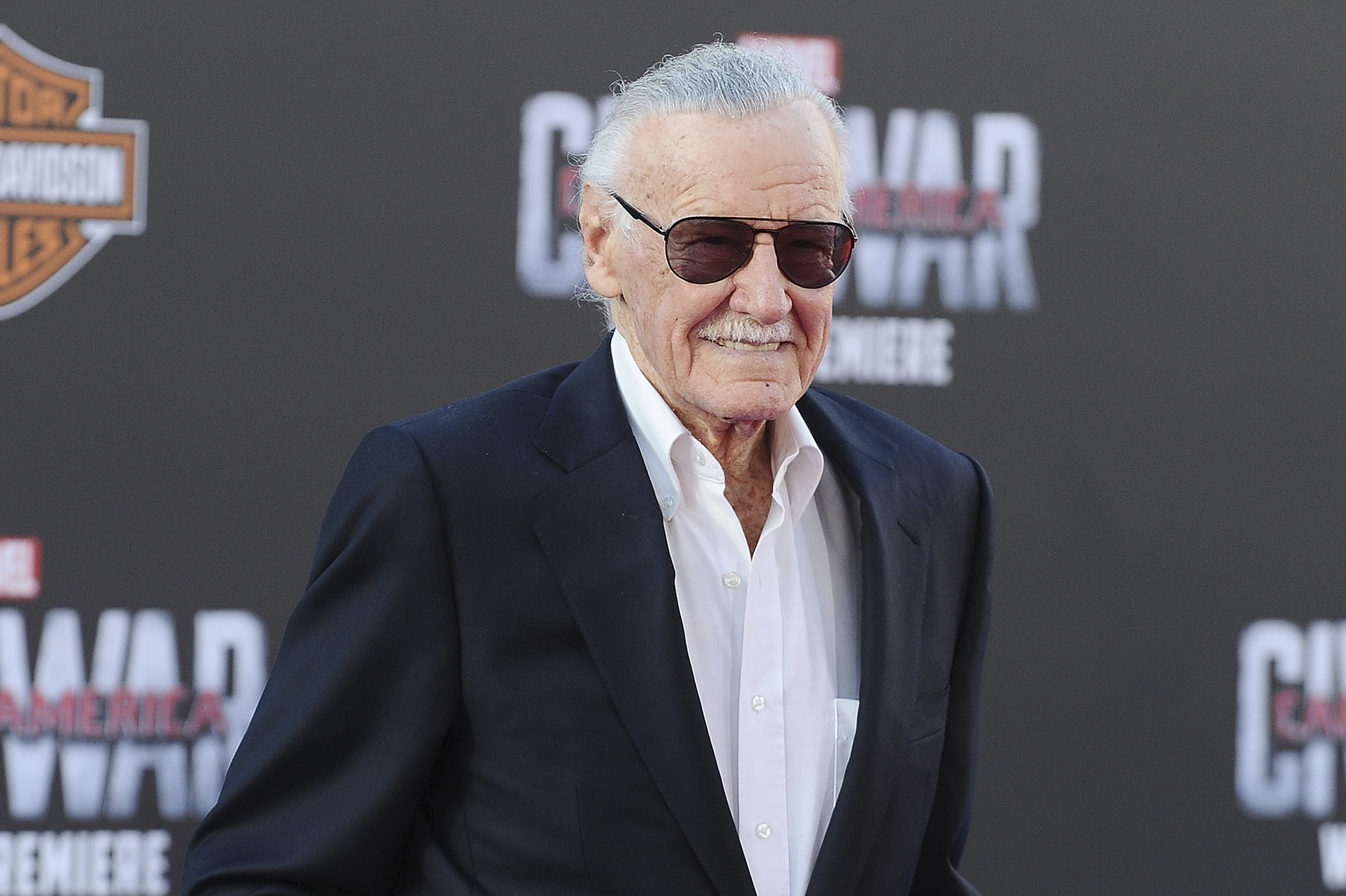 Stan Lee attends the premiere of  Captain America: Civil War  at Dolby Theatre on April 12, 2016 in Hollywood, California.
