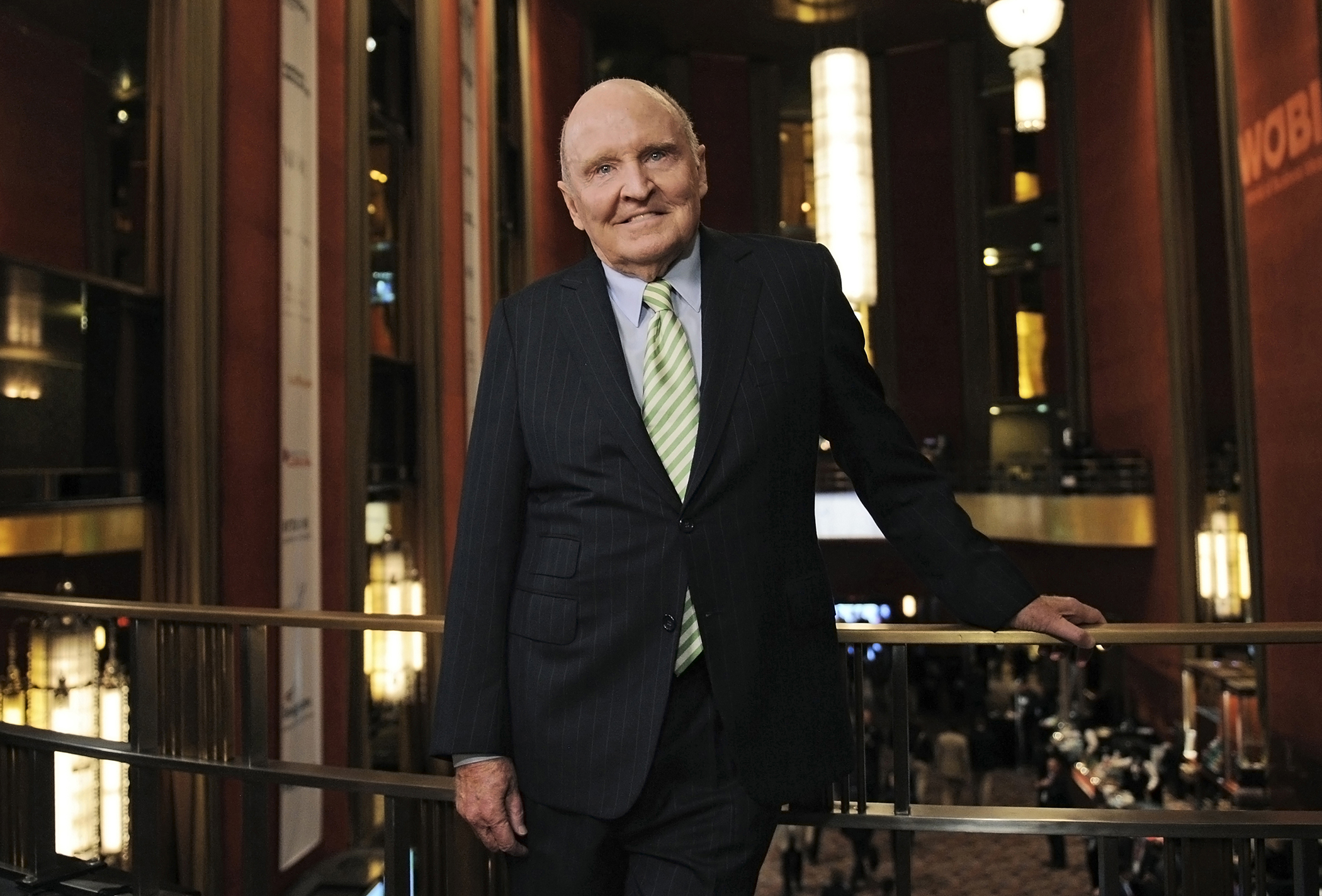 Jack Welch, former chief executive officer of General Electric Co., stands for a photograph at the World Business Forum in New York, on Oct. 2, 2013.