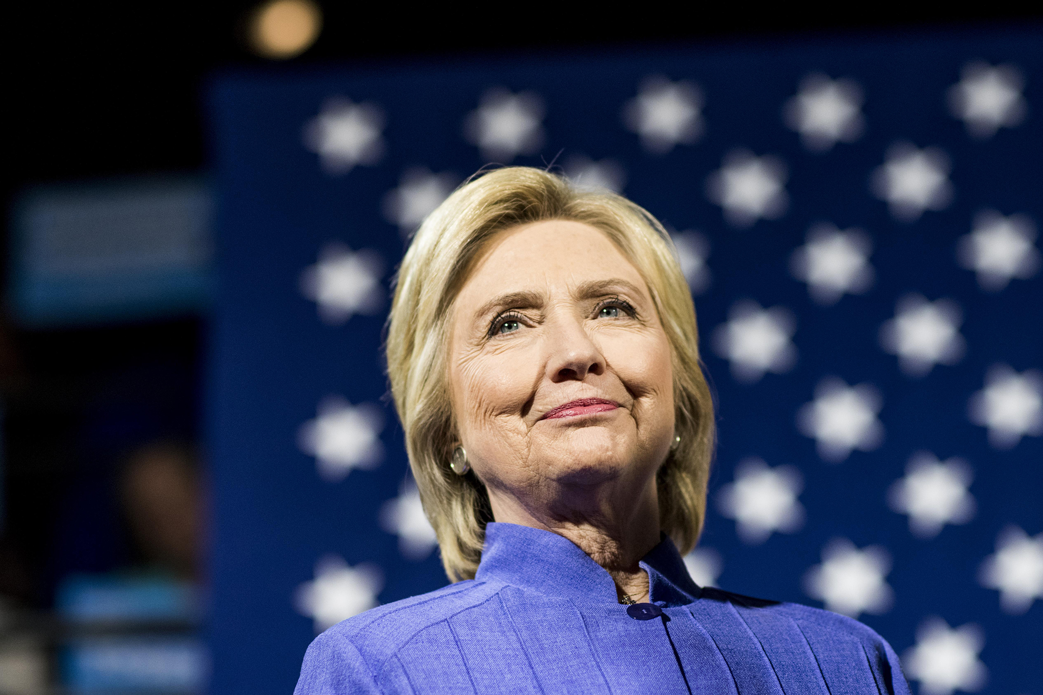 Democratic Presumptive Nominee for President former Secretary of State Hillary Clinton.