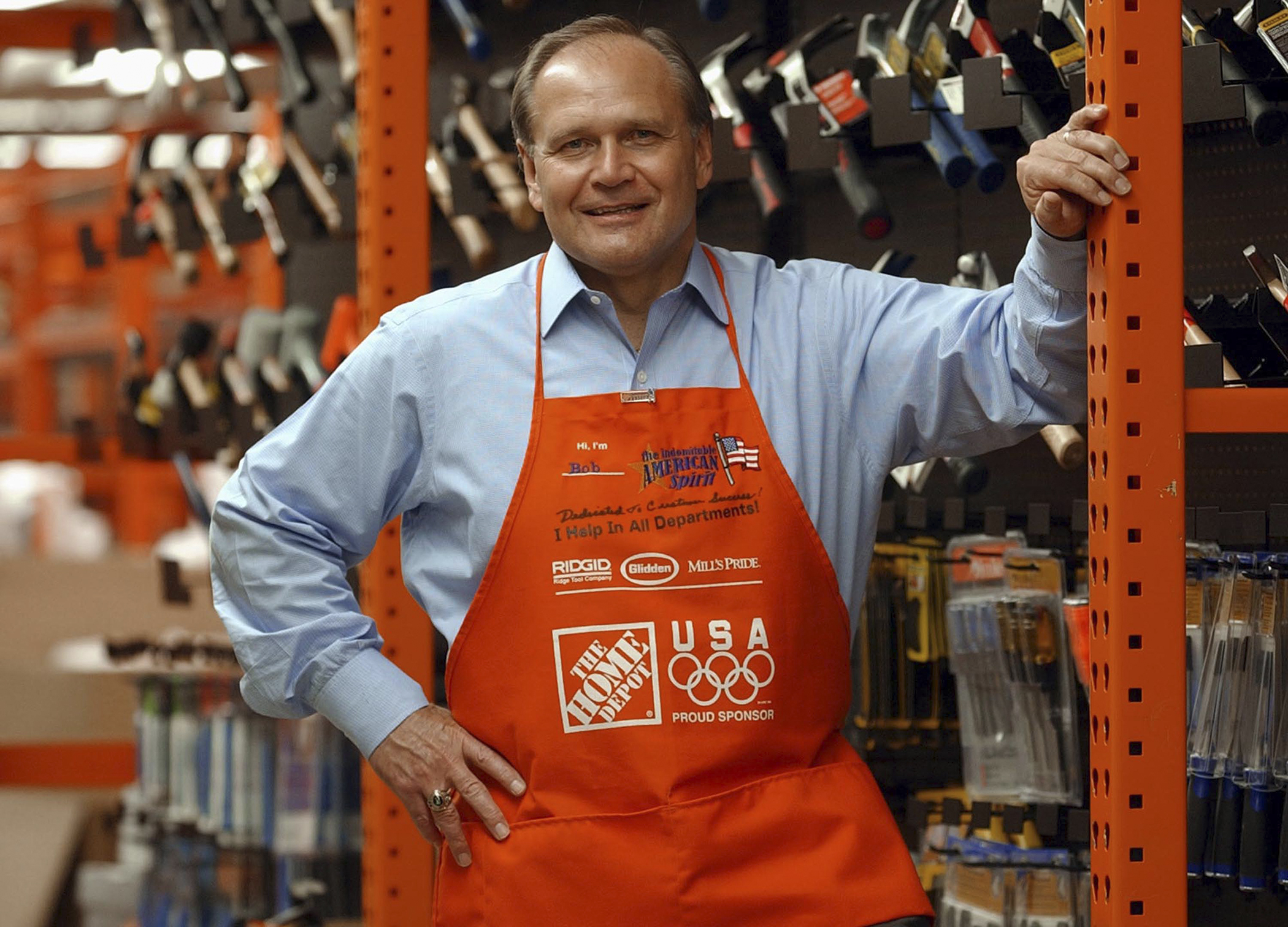 Robert L. Nardelli, chairman, president and CEO of The Home Depot stands at the company's training facility April 21, 2003 in Atlanta, Georgia.