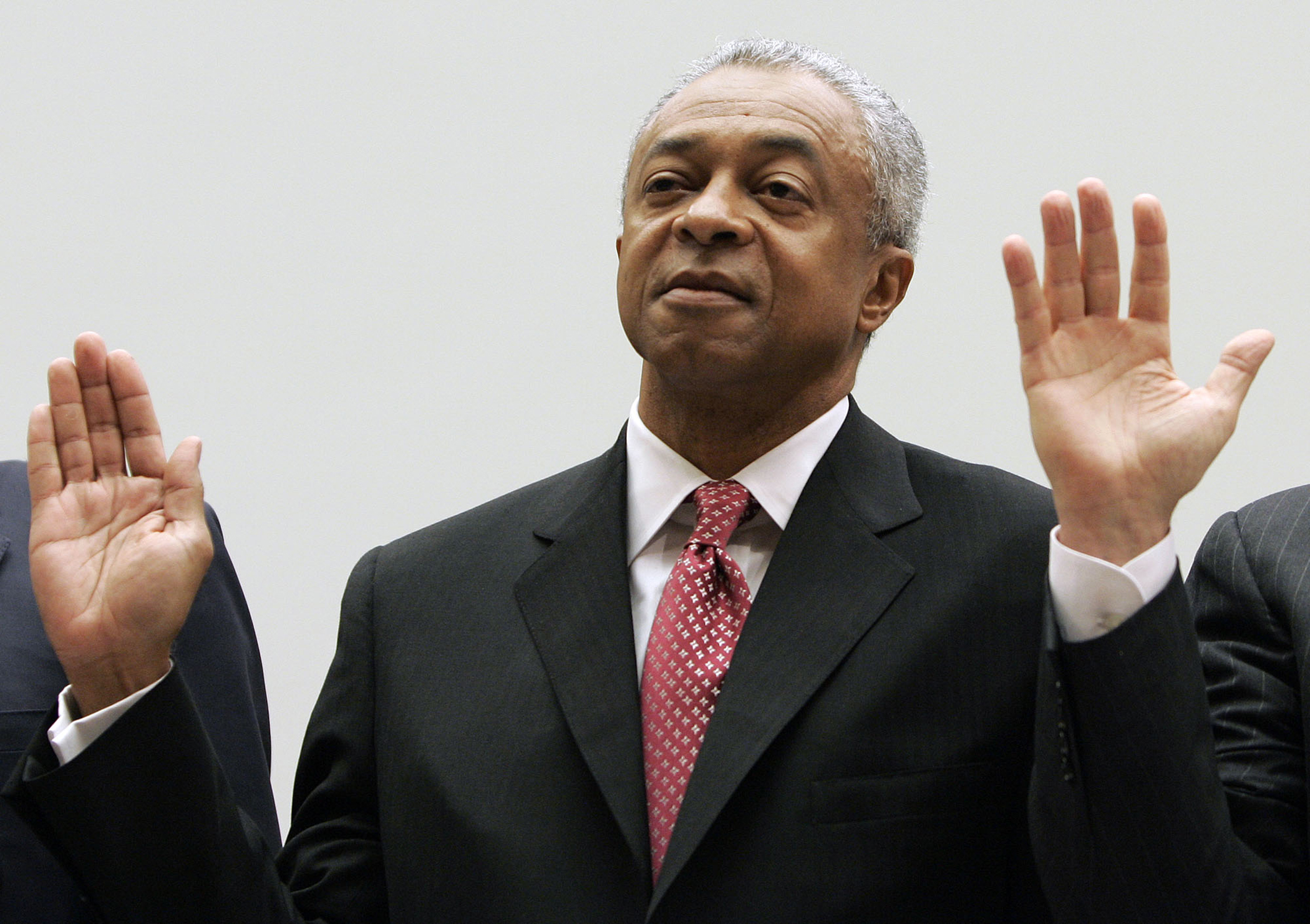 E. Stanley O'Neal, former Chairman and CEO of Merrill Lynch, is sworn in before the House Oversight and Government Reform Committee hearing on Capitol Hill in Washington, March 7, 2008 in Washington. The committee is examining the compensation and retirement packages granted to the CEOs of corporations deeply involved in the current mortgage crisis.