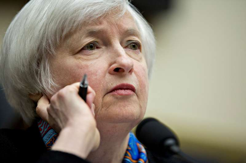 Janet Yellen, chair of the U.S. Federal Reserve, listens during a House Financial Services Committee hearing in Washington, D.C., U.S., on Wednesday, June 22, 2016. By offering a subtle change to her outlook from less than a week ago, Yellen on Tuesday before the Senate Banking Committee pushed the prospect of additional interest rate increases further into the future.