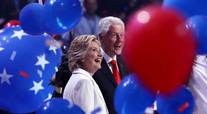 On Thursday, July 28, 2016, Hillary Clinton made history as the first female presidential candidate from a major political party. Her husband, former US President Bill Clinton, has pledged that if he returns to the White House, he will remain active with the Clinton Foundation and Global initiative. Hillary has also said he will play an active role in her team of advisers.