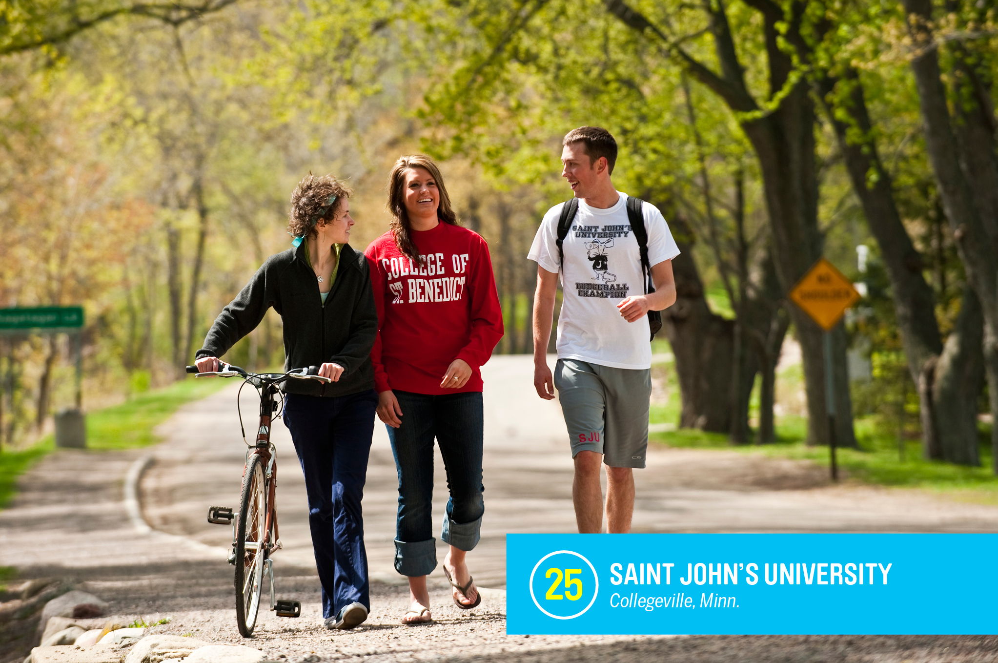 "<a href=""https://money.com/best-colleges/profile/saint-johns-university/"" target=""_blank"">Saint John's University</a> is a Catholic school for men that partners with a nearby women's school, College of Saint Benedict, to share academic programs and campuses resources. Nearly 80% of students at Saint John's graduate within six years, 12% higher than similar schools. <a href=""https://money.com/best-colleges/profile/saint-johns-university/"" target=""_blank"">FULL PROFILE</a>"