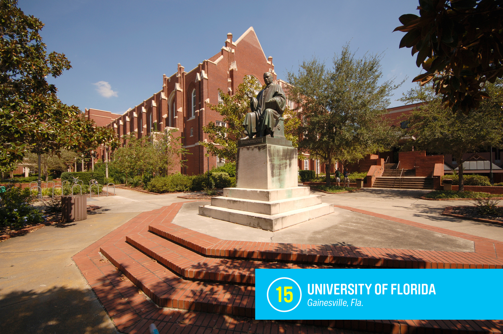 "The <a href=""https://money.com/best-colleges/profile/university-of-florida/"" target=""_blank"">University of Florida</a> is one of the biggest bargains in higher education, with tuition of just $6,300 a year for Floridians. For that low price, students get access to some of the world's top professors, well-respected programs in fields as diverse as astronomy and journalism, and sports teams that often dominate their leagues. <a href=""https://money.com/best-colleges/profile/university-of-florida/"" target=""_blank"">FULL PROFILE</a>"