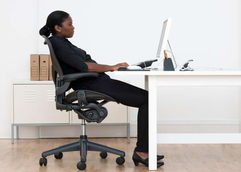 Incorrect seated posture.