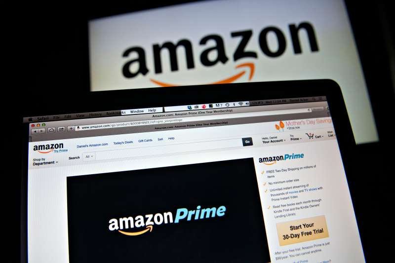 The Amazon.com Inc. Prime logo is displayed on computer screens for a photograph in Tiskilwa, Illinois, U.S., on Wednesday, April 23, 2014.