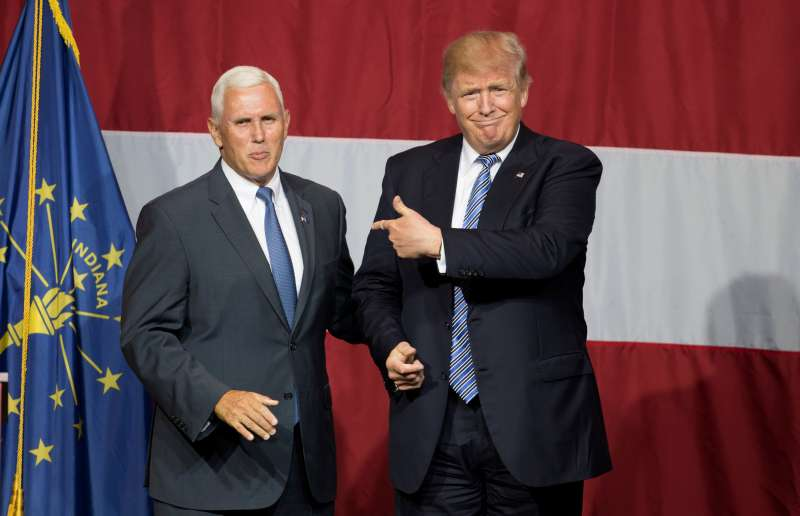 Pence and Trump make their debut.