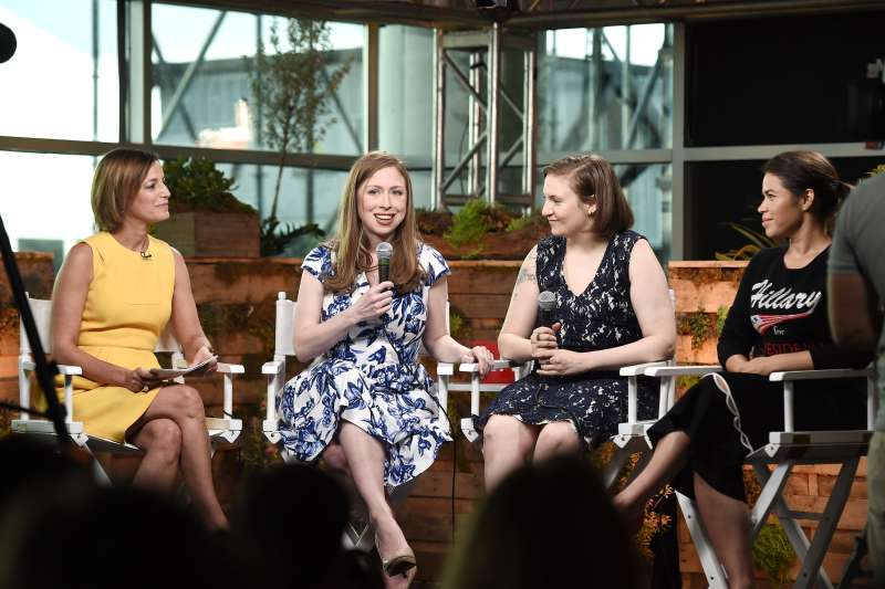 Glamour And Facebook Host Conversation With Cindi Leive, Chelsea Clinton, Lena Dunham, America Ferrera At The Democratic National Convention on July 26, 2016.