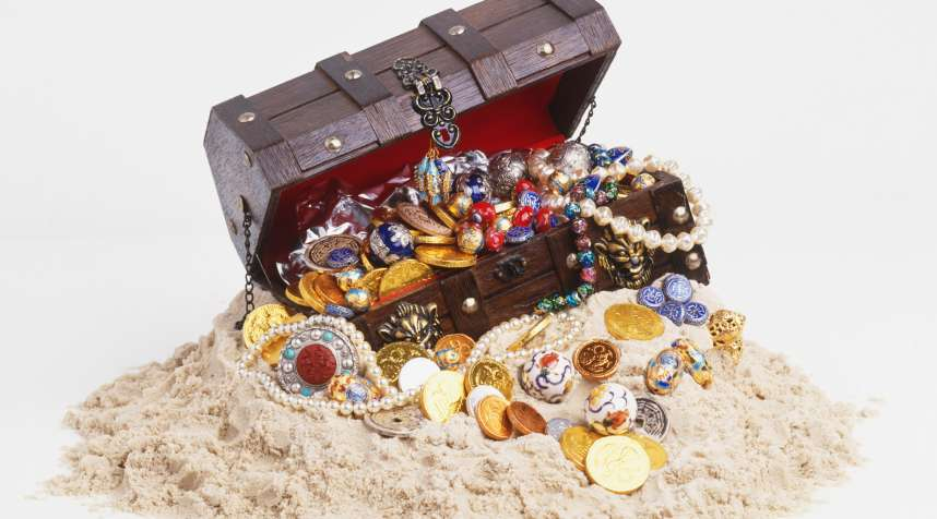 Not an actual picture of the treasure.