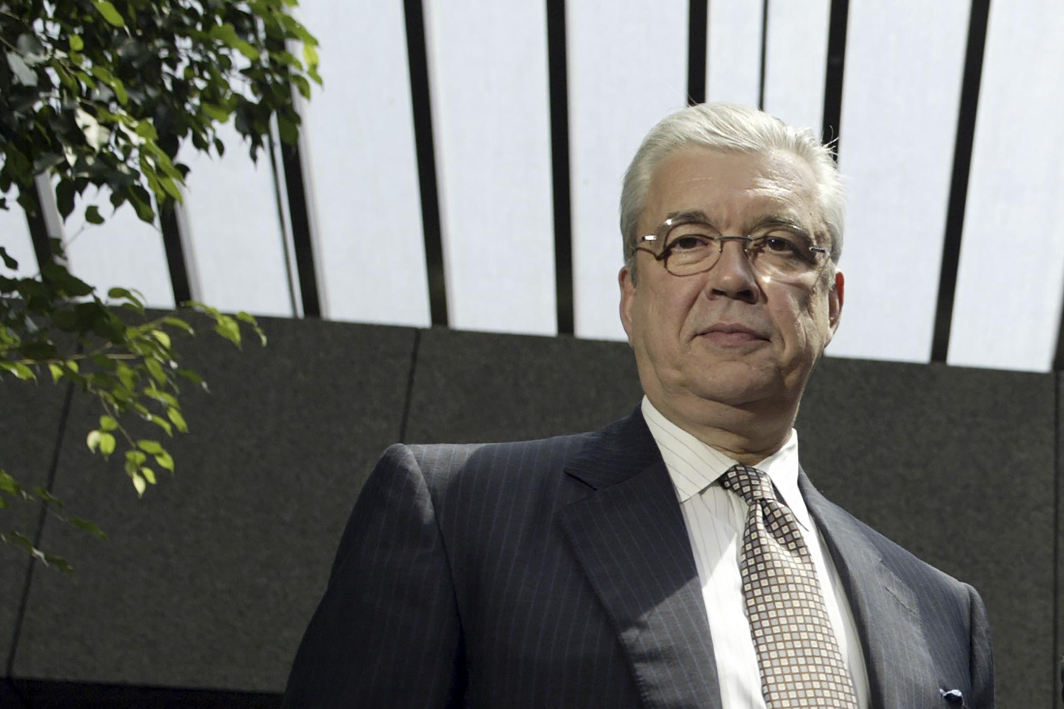 United Health Group CEO William McGuire, MD, at the LA Times building in LA.