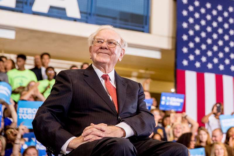 Warren Buffett, at a Hillary Clinton rally in Omaha, where he challenged Donald Trump to release his tax documents.