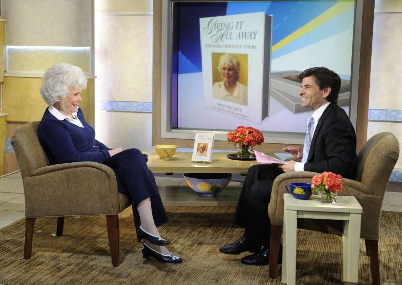 Doris Buffett appearing on  Good Morning America,  to discuss the charitable ventures she runs with the help of her famously wealthy brother, Warren.