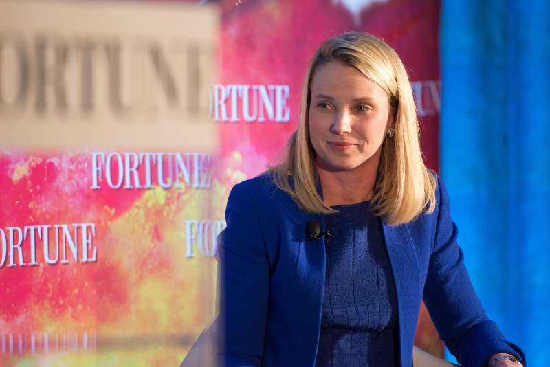President and CEO of Yahoo Marissa Mayer attends Fortune Magazines 2015 Most Powerful Women Evening With NYC at Time Warner Center in New York City on May 18, 2015.