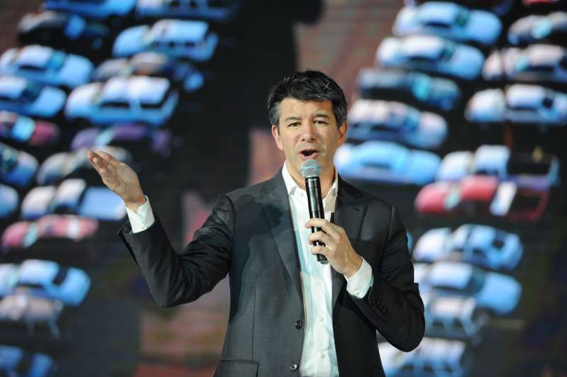 Uber CEO Travis Kalanick delivers a speech at the Third Netease Future Technology Conference on June 28, 2016 in Beijing, China. Concentrated around the theme of ¡°Force Sense,¡± the Third Netease Future Technology Conference invites entrepreneurs, scientists, writers, and celebrities to explore future tech and sets areas to experience virtual reality, augmented reality, artificial intelligence, and smart cars.