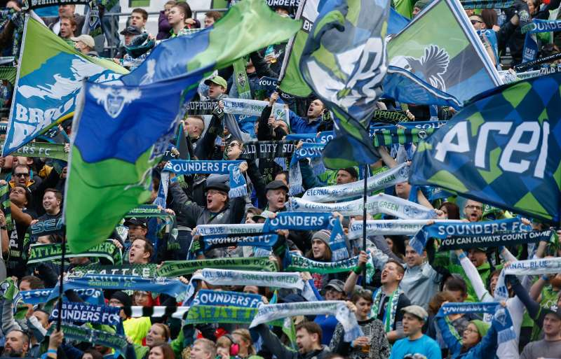 The Seattle Sounders consistently attract the most fans of any team in the MLS.