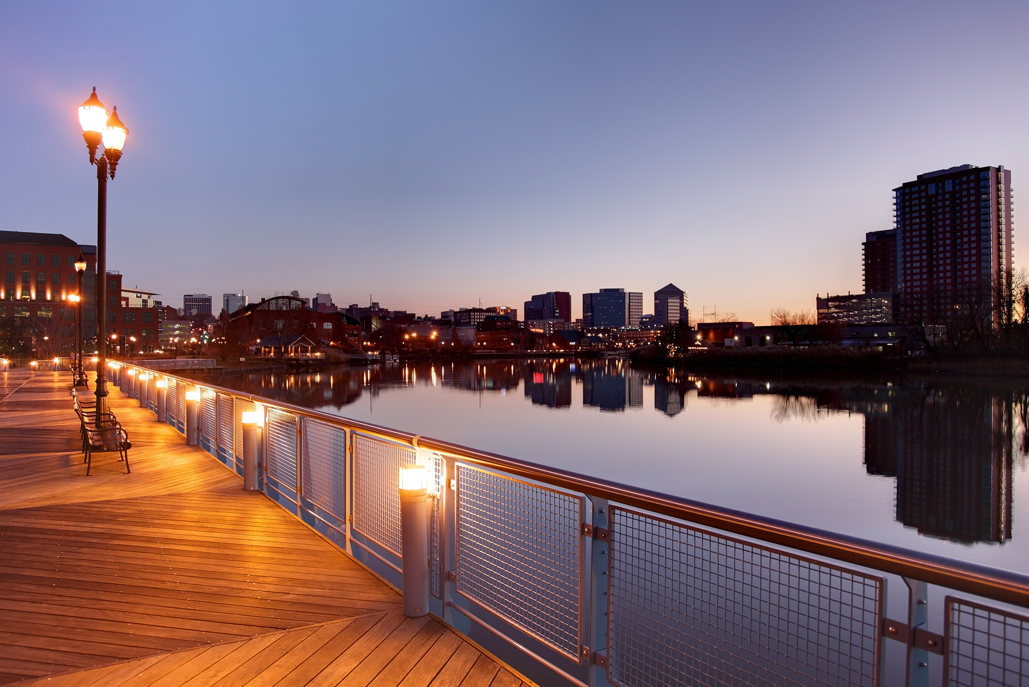 <strong>Wilmington, Delaware. </strong>At the confluence of the Christina and Brandywine rivers, Wilmington has been undergoing a waterfront revival.