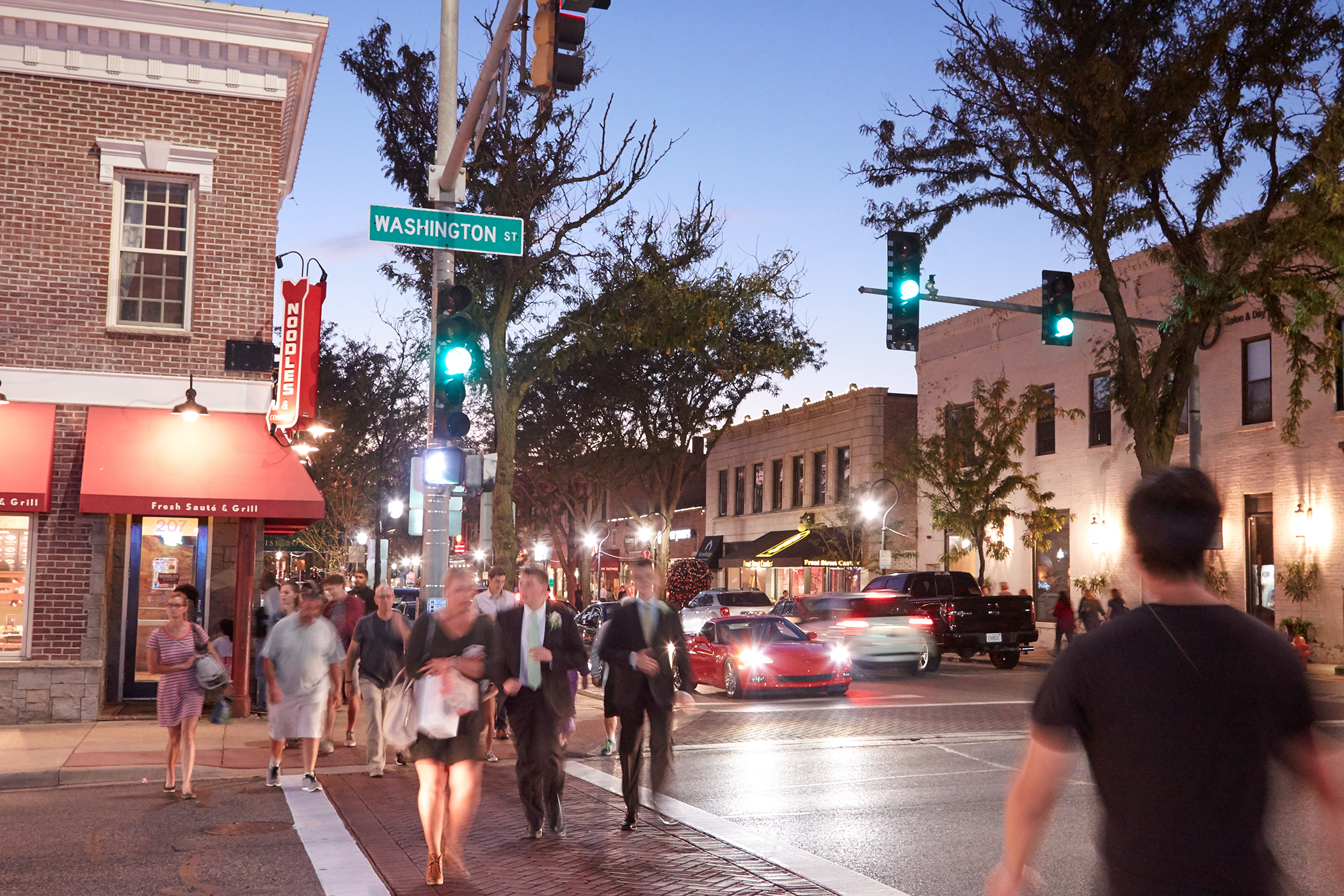 <strong>Naperville, Illinois. </strong>There's plenty to do in downtown Naperville, with more than 100 shops, 40 restaurants, and the rejuvenated, art-lined Riverwalk.