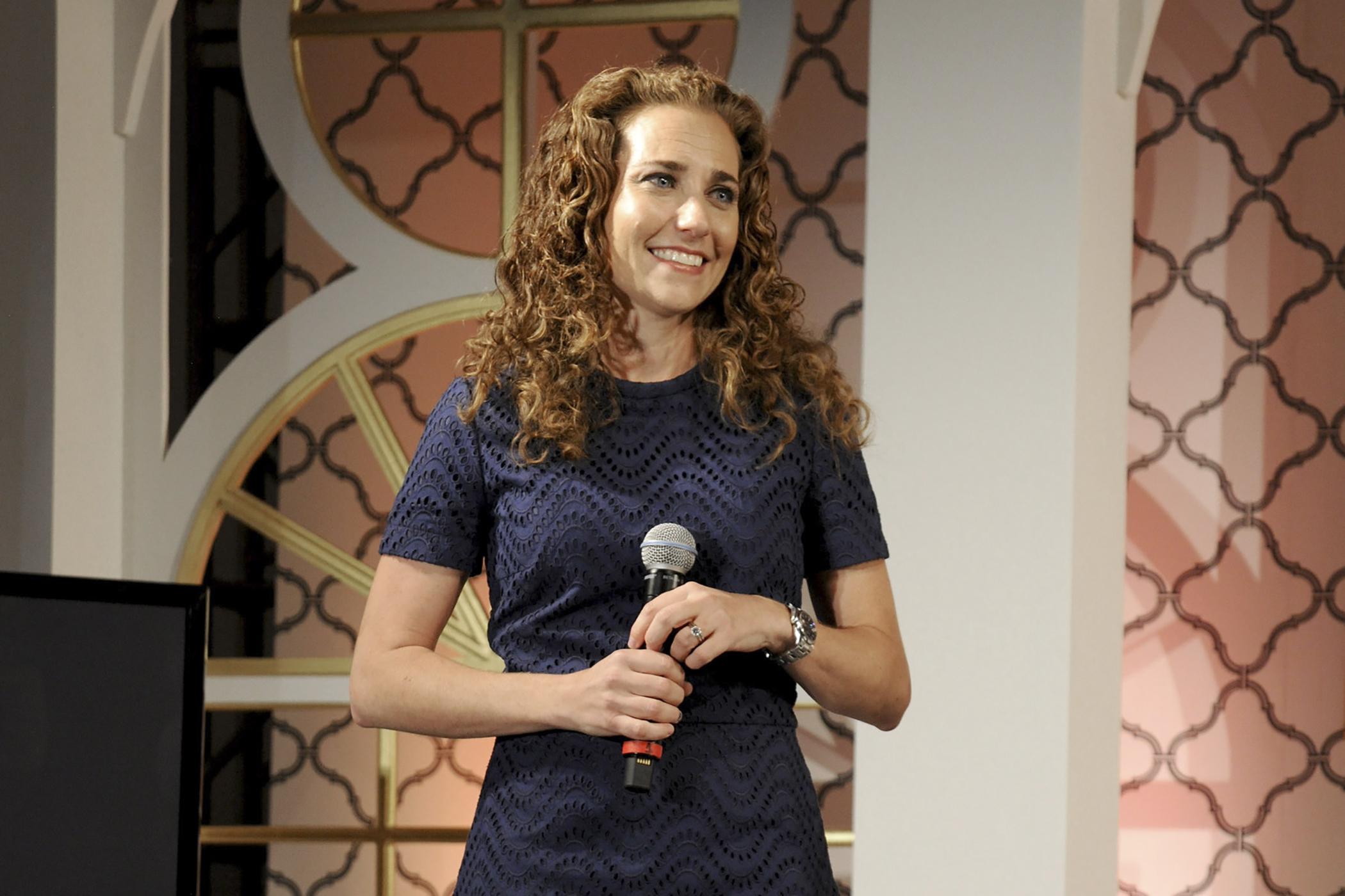 Lisa Sugar of POPSUGAR, at the Digital Content NewFronts presentation  in New York, 2014.