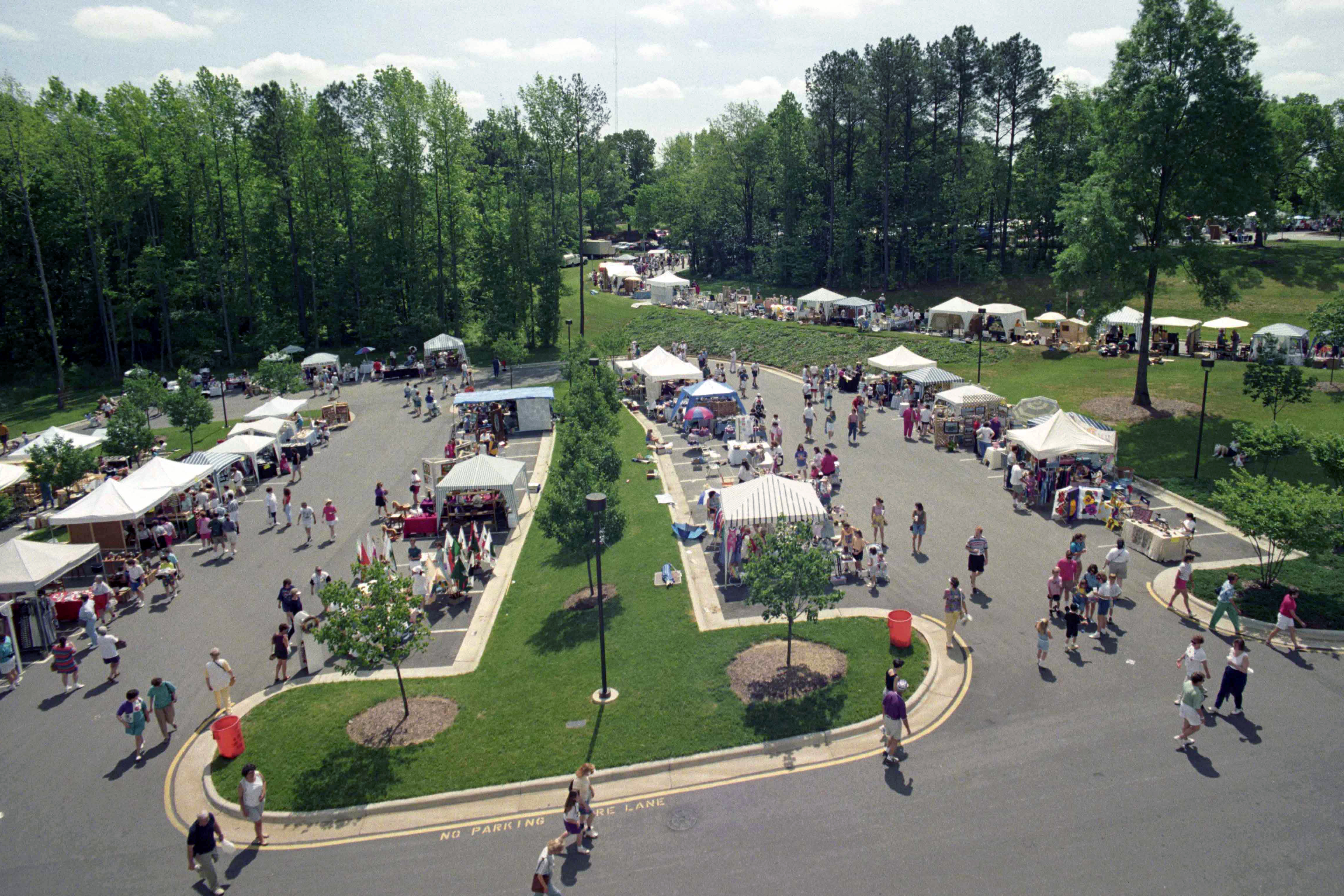 <strong>7. Cary, North Carolina:</strong> We've ranked Cary the best place to live in North Carolina, in part thanks to its high job growth projection (11.3%) and relatively low unemployment rate (4.3%). Pictured: the Spring Daze Arts &amp; Crafts festival.