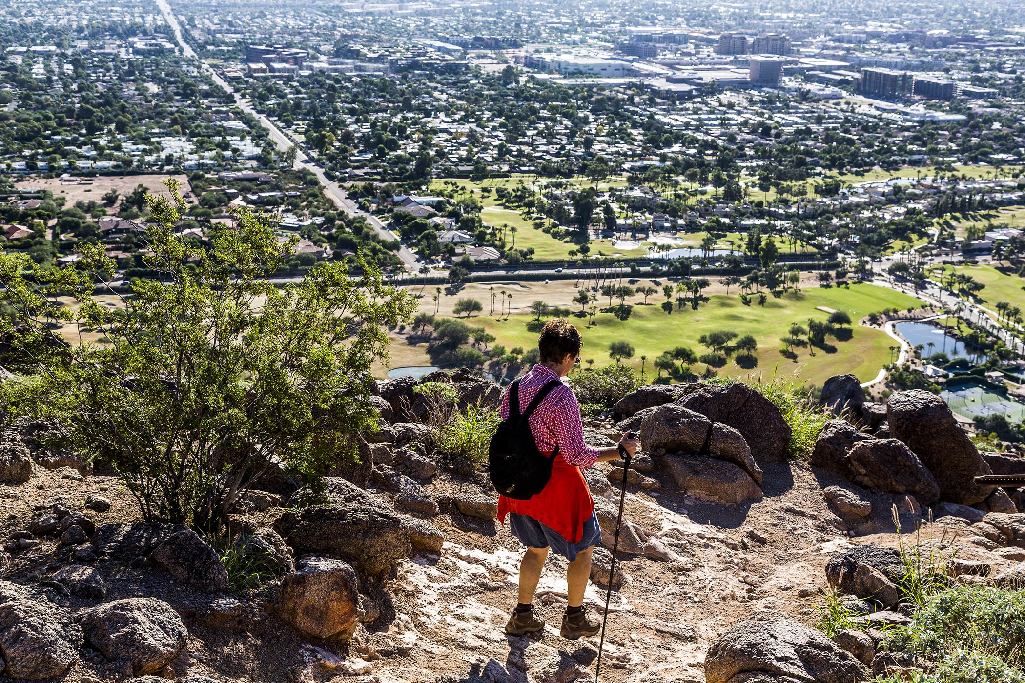 Hiking the Cholla Trail above Scottsdale Arizona.