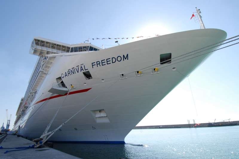 The Carnival cruise ship  Freedom .