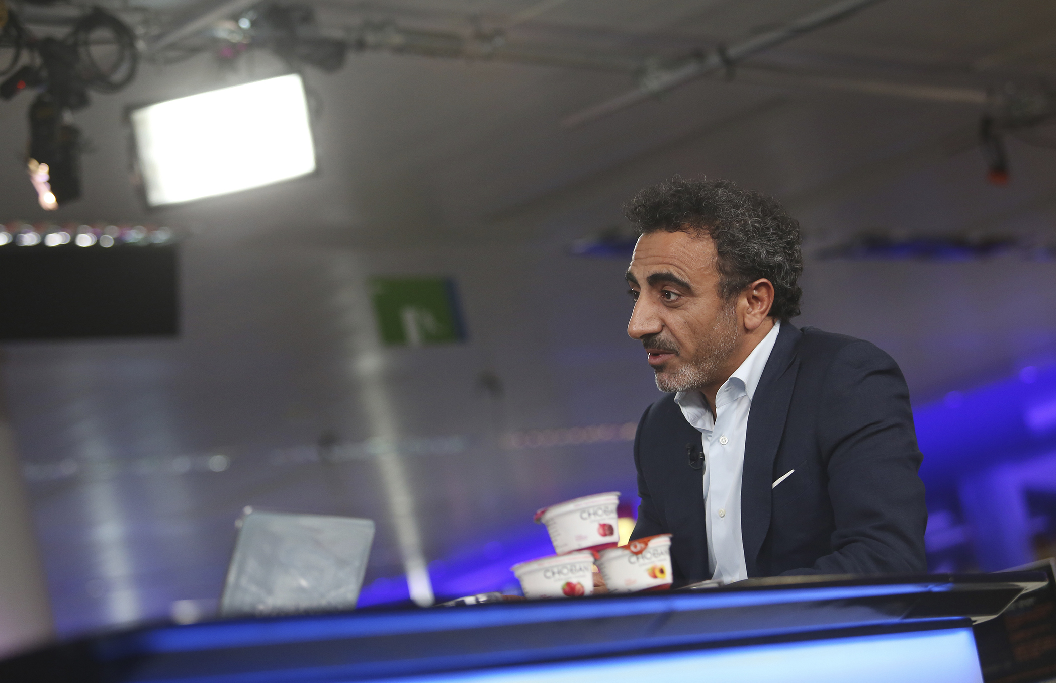 Hamdi Ulukaya, CEO of Chobani Inc., speaks during a Bloomberg Television interview in London on July 17, 2013.