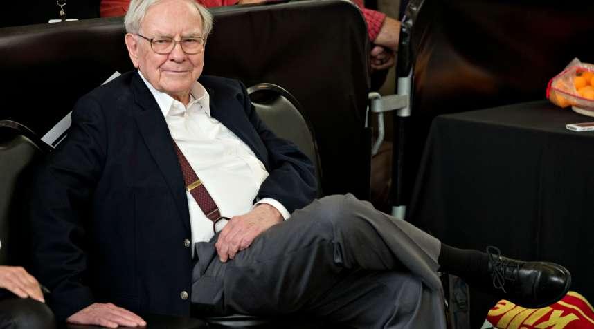 Warren Buffett at the Berkshire Hathaway shareholders meeting in Omaha, Nebraska.
