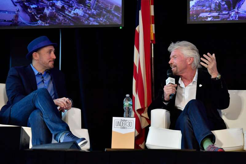 Sir Richard Branson answers audience questions and speaks with Forbes Magazine Editor Randall Lane at the 2016 Forbes Under 30 Summit at Faneuil Hall on Monday, October 17, 2016 in Boston, Massachusetts.