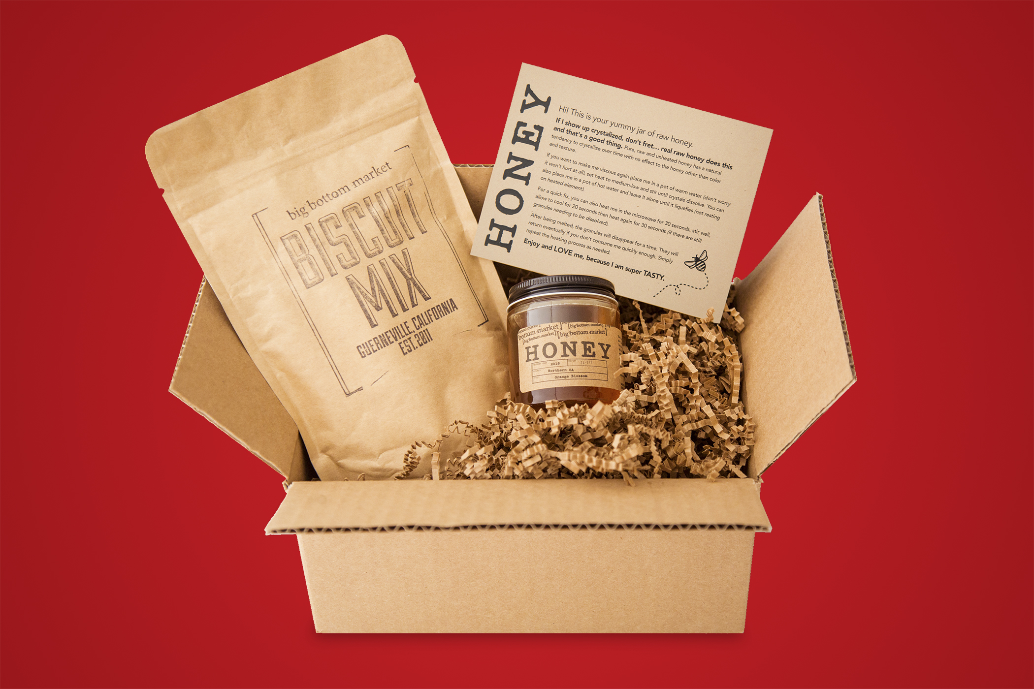 This honey and biscuit mix kit will set you back $22.