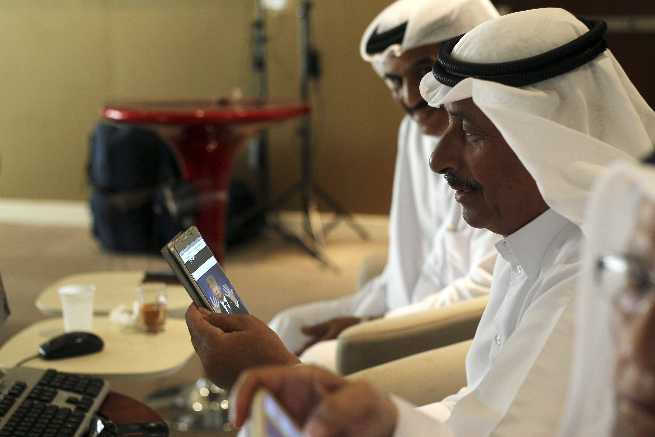 "Gulf State markets -- such as the Qatar Stock Exchange being monitored by a trader shown here -- fell after news of the Trump victory. These markets are heavily exposed to changes in the oil market, and Trump has promised to make America an even bigger <a href=""http://fortune.com/2016/11/09/opec-oil-prices-donald-trump/"" target=""_blank"">fuel and oil</a> producer."
