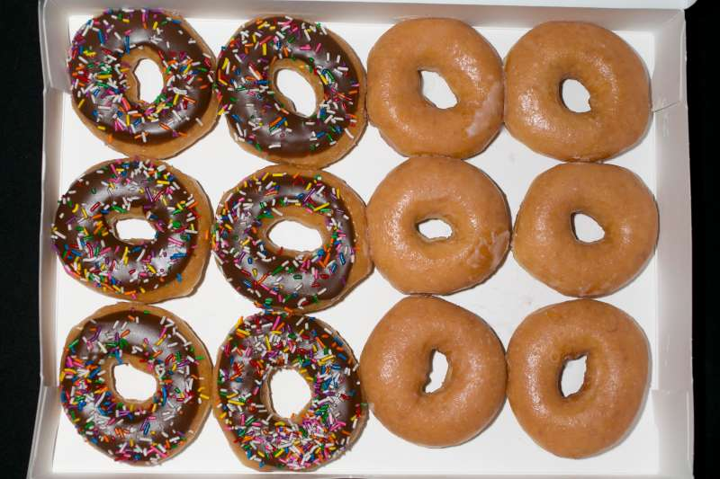 Voters on Tuesday can receive a free Krispy Kreme doughnut.