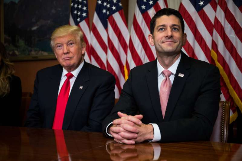 President-elect Donald Trump meets with House Speaker Paul Ryan (R-WI) at the U.S. Capitol.