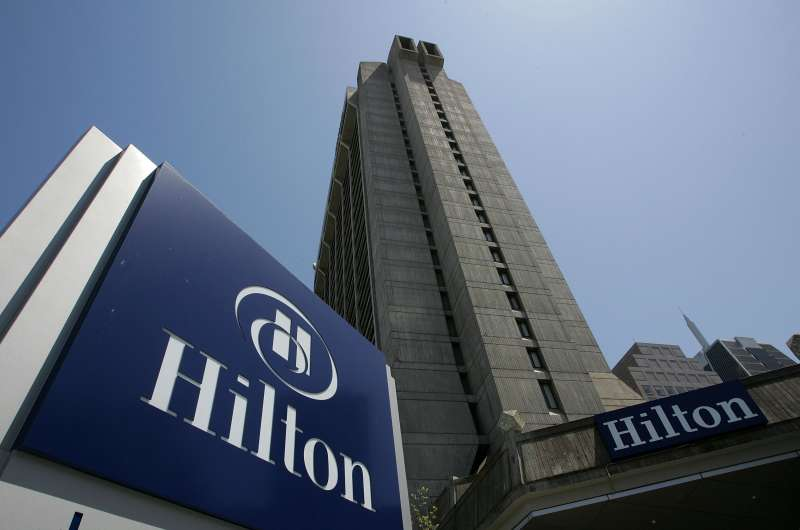 An exterior view of a Hilton hotel is shown August 1, 2006 in San Francisco.