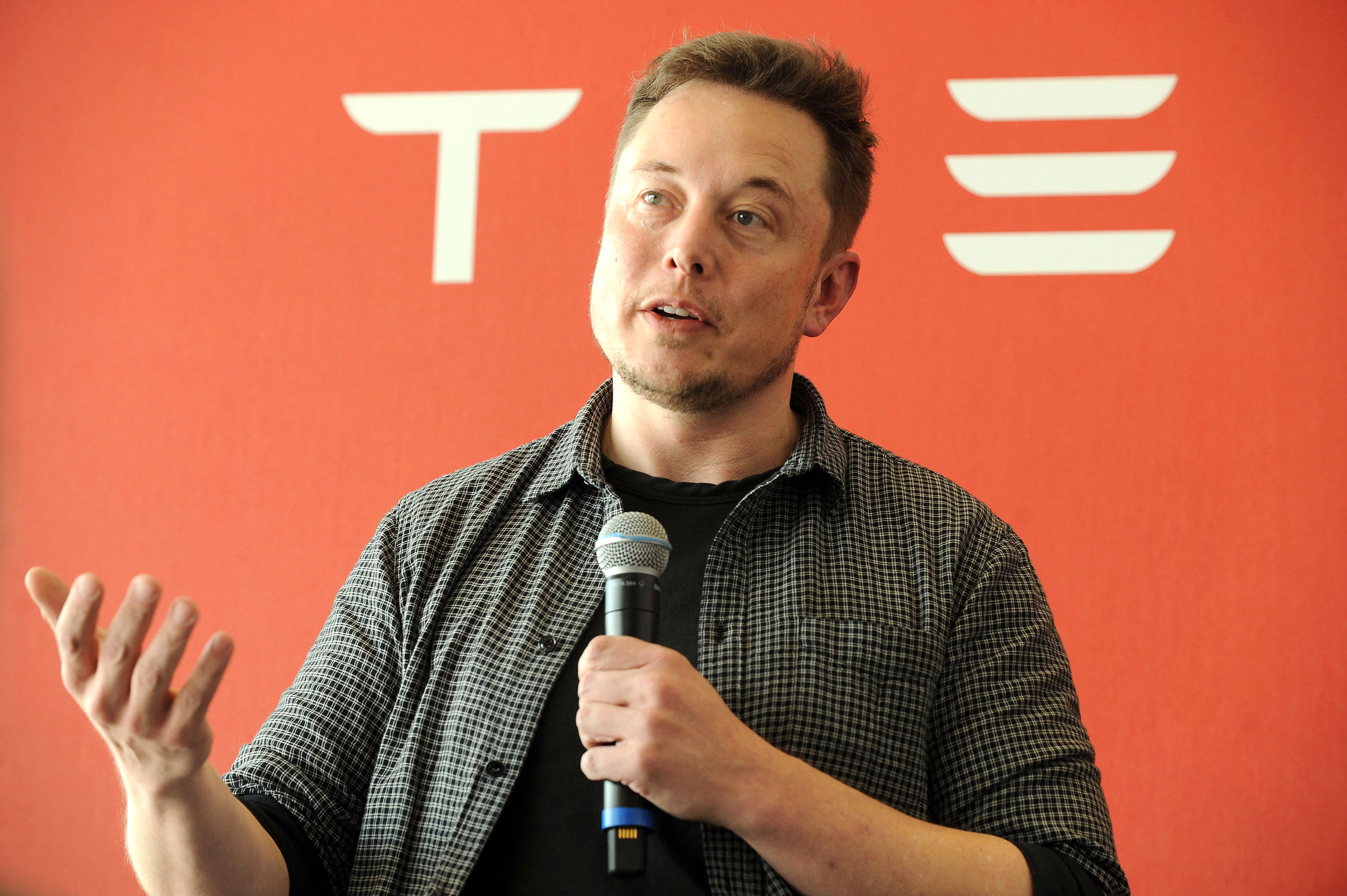 Founder and CEO of Tesla Motors Elon Musk speaks during a media tour of the Tesla Gigafactory, which will produce batteries for the electric carmaker, in Sparks, Nevada, U.S. July 26, 2016.