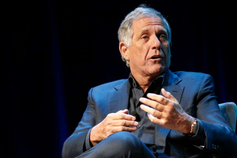 Leslie 'Les' Moonves, president and chief executive officer of CBS Corp., gestures as he speaks during the 2015 Consumer Electronics Show (CES) in Las Vegas, Nevada, U.S., on Wednesday, Jan. 7, 2015.