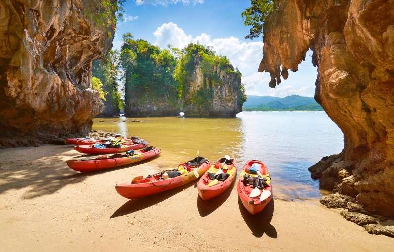 Thailand - Krabi province, Phang Nga Bay, canoe trip